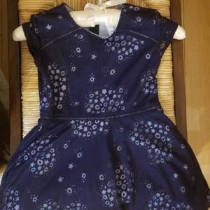 Navy Star Dress w/Tiny Shimmery Sequins